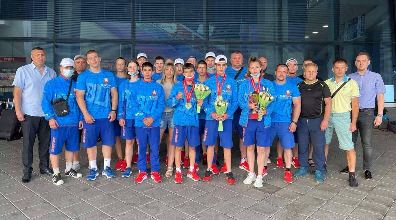 Возвращение сборной команды Республики Беларусь по боксу с чемпионата Европы