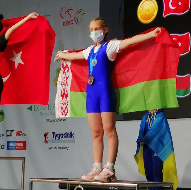 Бородинова Варвара заняла 3 место на чемпионате Европы по тяжёлой атлетике в г. Цеханув (Республика Польша)