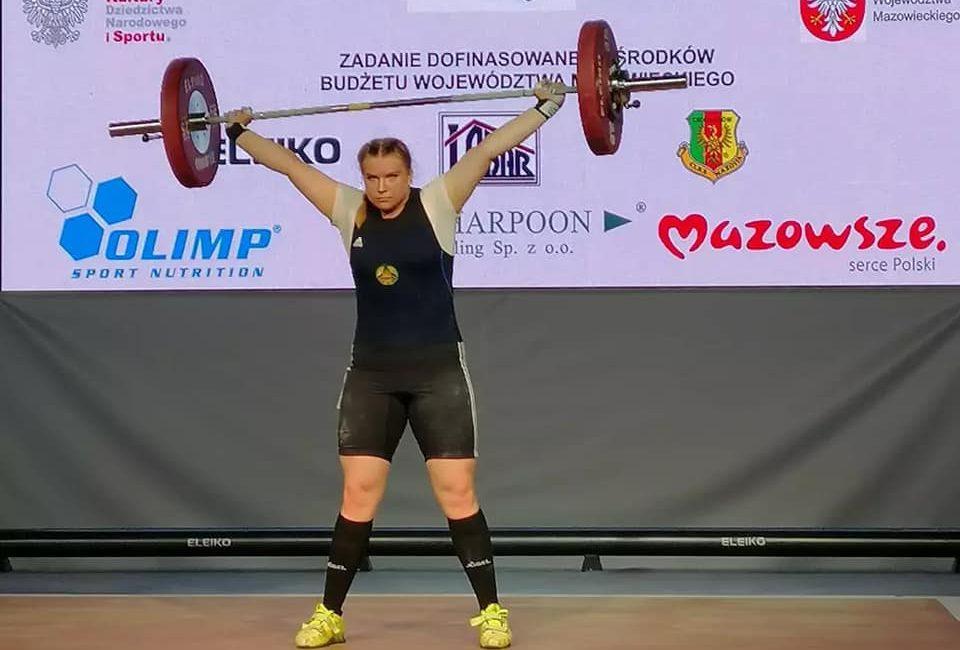 Эйсмонт Эльвира заняла 3 место на чемпионате Европы по тяжелой атлетике в г. Цеханув (Республика Польша)