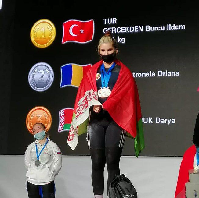 Поздравляем Харланчук Дарью с завоеванием бронзовой медали на чемпионате Европы по тяжелой атлетике среди юношей и девушек в г. Цеханув (Республика Польша)