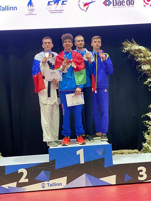 Поздравляем Павловского Ивана с завоеванием золотой медали открытого чемпионата Европы по таэквондо среди молодежи до 21 года (г.Таллин, Эстония)