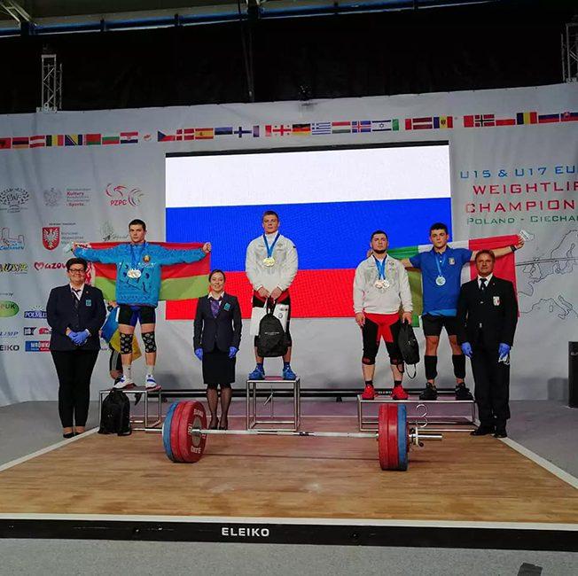 Павлюковец Игнатий стал серебряным призером чемпионата Европы по тяжелой атлетике среди юношей и девушек в г. Цеханув (Республика Польша)
