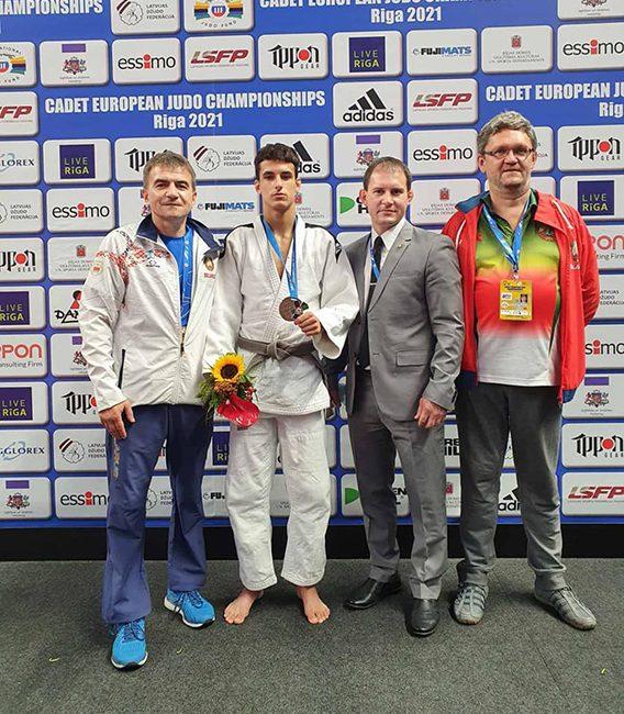 Витковский Кирилл завоевал бронзовую медаль Первенства Европы среди кадетов по дзюдо