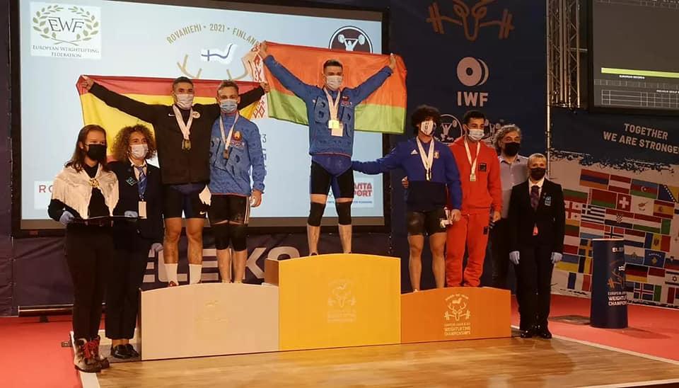 Поздравляем Фролова Андрея с завоеванием серебряной медали на чемпионате Европы по тяжелой атлетике в г. Рованиеми (Финляндская Республика)