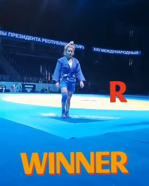 Капаева Анфиса завоевывает золотую медаль XXV Международного турнира категории «А» по самбо на призы Президента Республики Беларусь