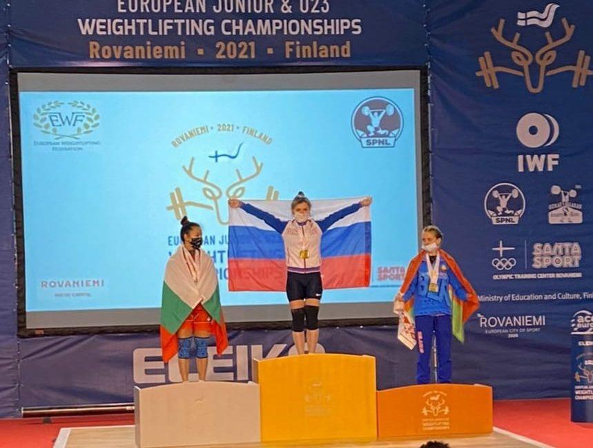 Поздравляем Корчинскую Диану с завоеванием бронзовой медали на чемпионате Европы по тяжелой атлетике в г. Рованиеми (Финляндская Республика)