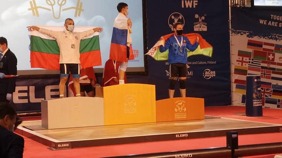 Поздравляем Лаптева Геннадия с завоеванием бронзы на чемпионате Европы по тяжелой атлетике в г. Рованиеми (Финляндская Республика)