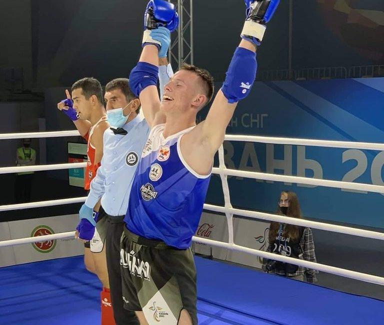 Поздравляем Макея Евгения с завоеванием серебряной медали на  I Играх стран СНГ по тайскому боксу