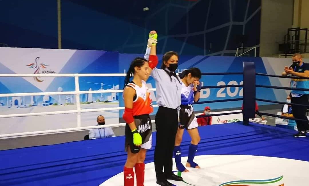 Поздравляем Николаеву Ксению с серебряной медалью I Игр стран СНГ по тайскому боксу