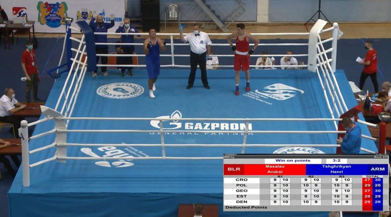 Масалов Андрей завоевал бронзовую награду чемпионата Европы по боксу среди молодежи до 18 лет в г. Будва (Черногория)