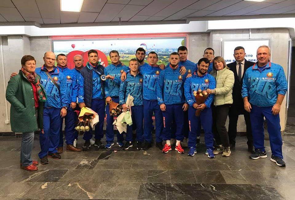 Встретили ребят с чемпионата мира по греко-римской борьбе (г. Осло, Норвегия)