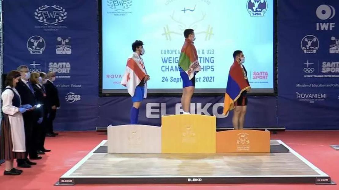 Поздравляем победителя чемпионата Европы по тяжелой атлетике среди юниоров в г. Рованиеми (Финляндская Республика) Шаренкова Сергея!